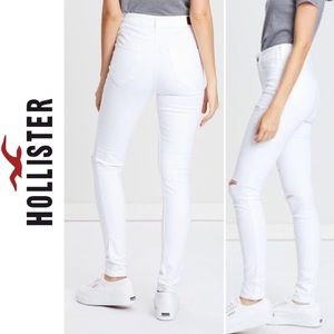 Hollister High Rise Super Skinny distress Jeans